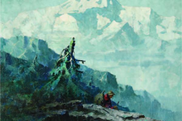 Eustace Paul Ziegler, Mount McKinley with a Prospector, circa 1930