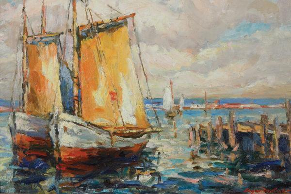 Edgar Forkner, Fishing Boats at Ballard, circa 1925
