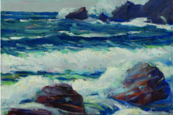 Henry (Harry) Wentz, Untitled (Surf at Manzanita), circa 1915