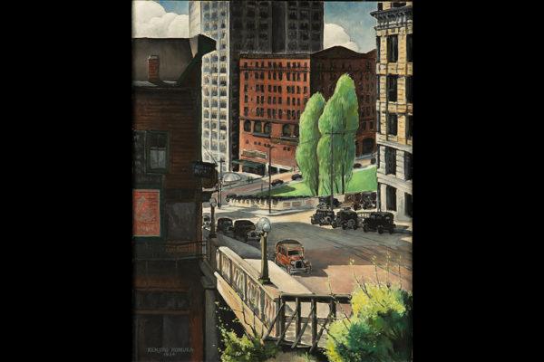 Kenjiro Nomura (1896-1956), Yesler Way, 1934. Oil on canvas. Central Washington University, Public Works of Art Project, Washington State.